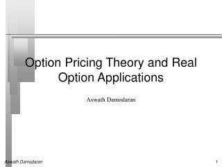 Option Pricing Theory and Real Option Applications