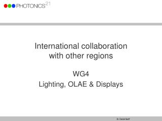 International collaboration  with other regions