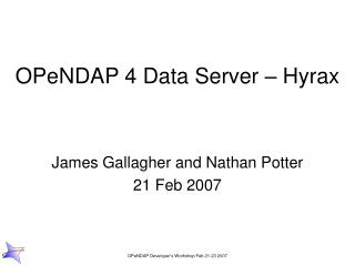 OPeNDAP 4 Data Server – Hyrax