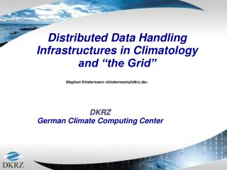 DKRZ German Climate Computing Center