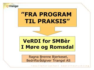 """FRA PROGRAM  TIL PRAKSIS"""