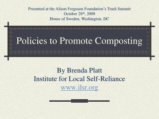 Policies to Promote Composting