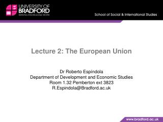 Lecture 2: The European Union