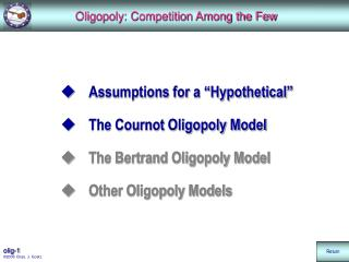 Oligopoly: Competition Among the Few