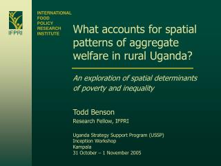 What accounts for spatial patterns of aggregate welfare in rural Uganda?