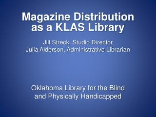 Oklahoma Library for the Blind and Physically Handicapped