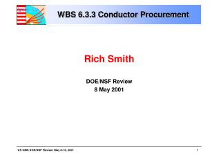 WBS 6.3.3 Conductor Procurement