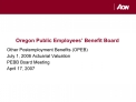 Oregon Public Employees  Benefit Board
