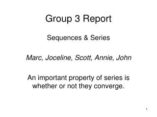 Group 3 Report