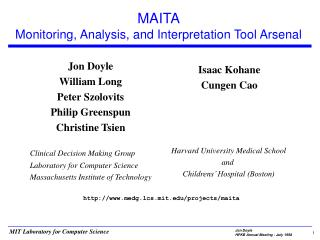 MAITA Monitoring, Analysis, and Interpretation Tool Arsenal