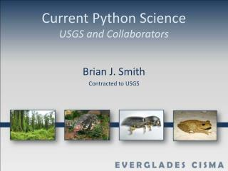 Current Python Science USGS and Collaborators