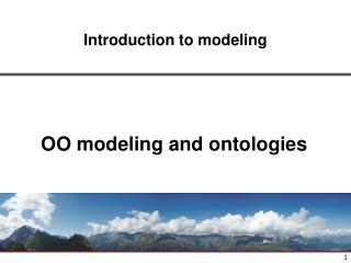 OO modeling and ontologies