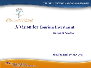 A Vision for  Tourism Investment