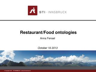 Restaurant/Food  ontologies