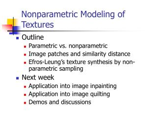 Nonparametric Modeling of  Textures