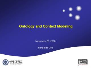 Ontology and Context Modeling