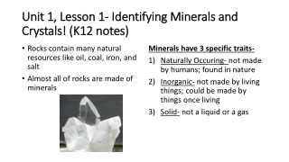 Introduction to Minerals