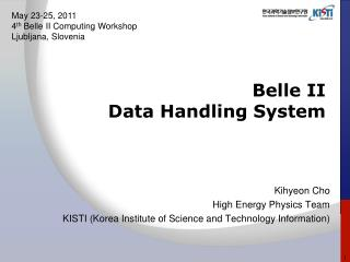 Belle II  Data Handling System
