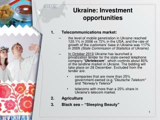 Ukraine: Investment opportunities
