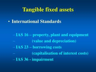 Tangible fixed assets