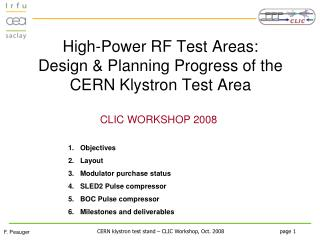 High-Power RF Test Areas:  Design & Planning Progress of the CERN Klystron Test Area