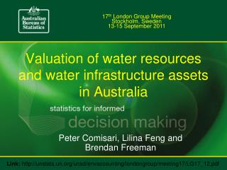 Valuation of water resources and water infrastructure assets in Australia