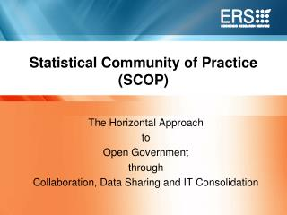 Statistical Community of Practice (SCOP)