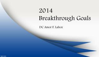 2014 Breakthrough Goals