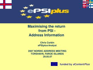 Maximising the return  from PSI -  Address Information