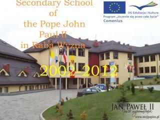 Secondary School of the Pope John Paul II in Raba Wyzna