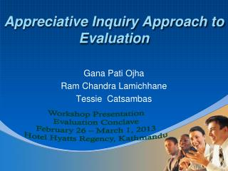 Appreciative Inquiry Approach to Evaluation