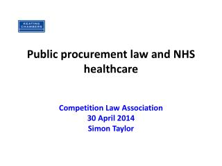 Public procurement law and NHS healthcare