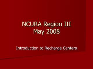 NCURA Region III May 2008