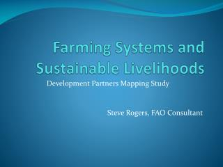 Farming Systems and Sustainable Livelihoods