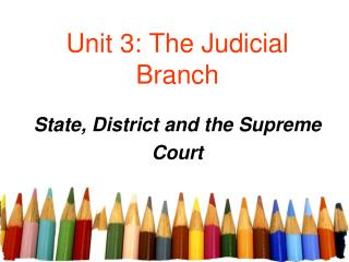 Unit 3: The Judicial Branch
