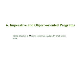 6.  Imperative and Object-oriented Programs