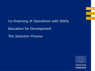 Co-financing of Operations with NGOs Education for Development The Selection Process