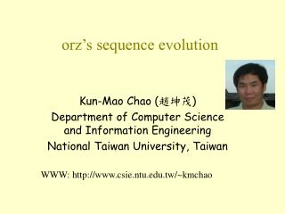 orz's sequence evolution