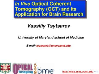 In Vivo  Optical Coherent Tomography (OCT)  and its Application for Brain Research