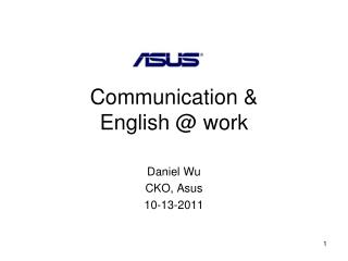 Communication & English @ work