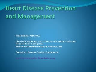 Heart Disease Prevention and Management