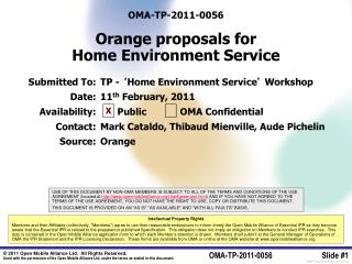OMA-TP-2011-0056 Orange proposals for Home Environment Service