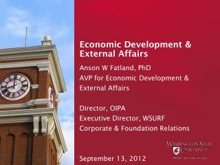 Economic Development & External Affairs