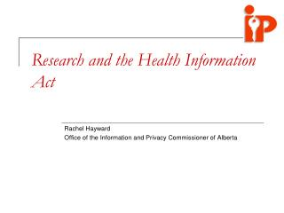 Research and the Health Information Act