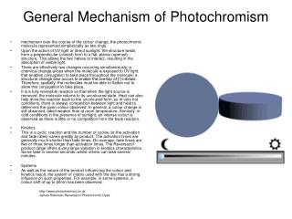 General Mechanism of Photochromism