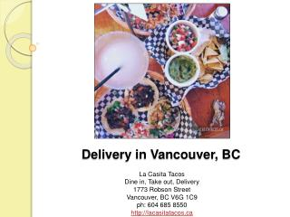 Delivery in Vancouver, BC