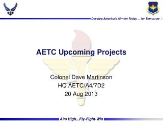 AETC Upcoming Projects