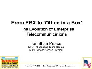 From PBX to 'Office in a Box' The Evolution of Enterprise Telecommunications