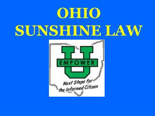 OHIO SUNSHINE LAW