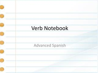 Verb Notebook